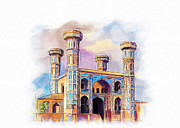University Of Illinois Painting Originals - Chauburji Lahore by Catf