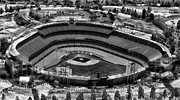 Dodger Stadium Prints - Chavez Ravine Home of the Dodgers Print by Carol M Highsmith