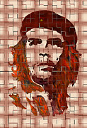 Che Guevara Posters - Che Guevara digital from watercolor painting Poster by Georgeta Blanaru