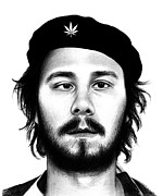Pencil Drawing Prints - Che Karl - Workaholics Print by Olga Shvartsur