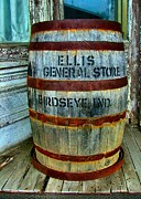 Rusted Barrels Posters - Cheap Advertisement Poster by Julie Dant