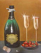Champagne Painting Originals - Cheat by Ksusha Scott