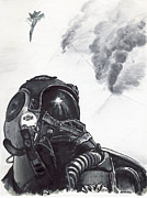 Marines Drawings Prints - Check Six Print by Joseph Juvenal