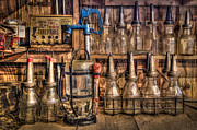 Work Bench Prints - Check Your Oil Print by Debra and Dave Vanderlaan