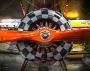 Single-engine Photo Prints - Checkered Prop Print by Leanne Howie