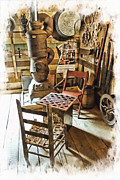 Checkers At The General Store Print by Kenny Francis