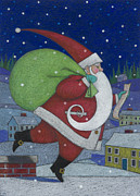 Santa Claus Posters - Checking it Twice Poster by Lynn Bywaters