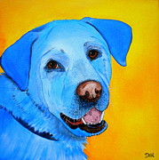 Golden Lab Paintings - Cheddar by Debi Pople