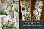 Cheeky Girl Framed Prints - Cheeky Bugger 260309 Comp Framed Print by Selena Boron