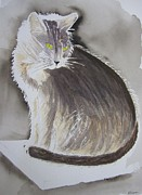 Cat On Back Posters - Cheeky Cat Naria Poster by Elvira Ingram