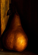 Pear Art Metal Prints - Cheeky Metal Print by Constance Fein Harding
