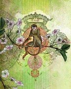 Chinese Portrait Framed Prints - Cheeky Monkey Framed Print by Aimee Stewart