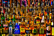 Glass Bottles Prints - Cheers - Alcohol Galore Print by David Patterson