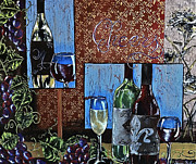 Champagne Glasses Painting Framed Prints - Cheers Framed Print by Sheena Bolken