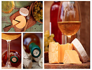 Wine Cellar Photos - Cheese and whine  by Svetoslav Sokolov