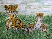 Kathy Marrs Chandler - Cheetah and Babies