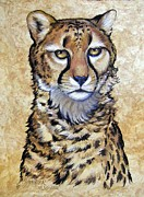 Amate Bark Paper Prints - Cheetah Print by Anne Shoemaker-Magdaleno