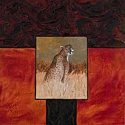 Textured Painting Originals - Cheetah by Darice Machel McGuire