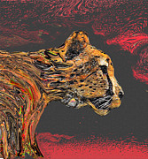 Cheetah Mixed Media Prints - Cheetah in pursuit Print by Martin Hardy