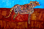 Cheetah Drawings Framed Prints - Cheetah Framed Print by Stephanie Ward