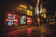 Goat Digital Art Metal Prints - Cheezborger Cheezborger at Billy Goat Tavern Metal Print by Sven Brogren