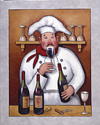 Wine Rack Paintings - Chef 1 by John Zaccheo