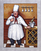 Wine-glass Paintings - Chef 2 by John Zaccheo