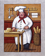 Ice Wine Painting Framed Prints - Chef 3 Framed Print by John Zaccheo