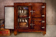 Browns Art - Chef - Fridge - The ice chest  by Mike Savad