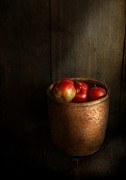 Fruit Still Life Framed Prints - Chef - Fruit - Apples Framed Print by Mike Savad