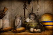 Basket Posters - Chef - Ingredients - Breakfast and grandpas Poster by Mike Savad