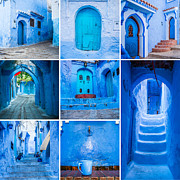 Moroccan Photos - Chefchaouen collage by Sabino Parente