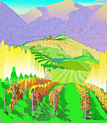 Grape Digital Art Originals - Chelan Vinyards by Gregg Caudell