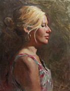 """life Study"" Originals - Chelsey in Profile by Anna Bain"