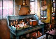 Chemist - Making Glue Print by Mike Savad