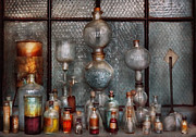 Lab Metal Prints - Chemist - The Apparatus Metal Print by Mike Savad