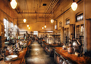 Steam Punk Metal Prints - Chemist - The Chem Lab Metal Print by Mike Savad