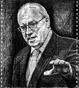 Dick Cheney Framed Prints - Cheney Framed Print by Mark Zelmer