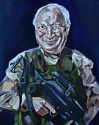 Dick Cheney Framed Prints - Cheneys Got A Gun Framed Print by Stuart Black