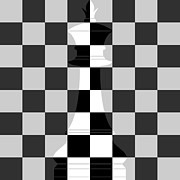 Chess Piece Digital Art Posters - Chequered Poster by Shashwat Kumar Bhoi