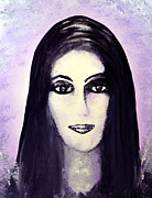 Icons Prints Painting Originals - Cher by Alys Caviness-Gober