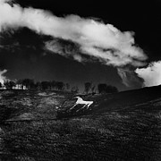 Mark Preston Metal Prints - Cherhill White Horse Wiltshire Metal Print by Mark Preston