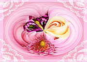 Shower Digital Art - Cherished Bouquet Greeting by Paula Ayers