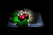 Cecil Fuselier Metal Prints - Cherries and Grapes Metal Print by Cecil Fuselier