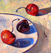 Observation Painting Framed Prints - Cherries Framed Print by Christine Wenderoth