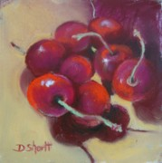 Donna Shortt Framed Prints - Cherries Framed Print by Donna Shortt
