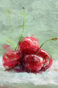 Digital Paiting  Posters - Cherries  Poster by Rosi Lorz