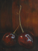 Timi Johnson Prints - Cherries Print by Timi Johnson