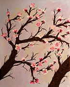 Cherry Blossoms Painting Prints - Cherry Blossom 1 Print by Barbara Griffin