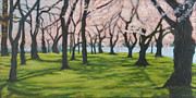Tidal Basin Paintings - Cherry Blossom 2 by Suzanne Shelden
